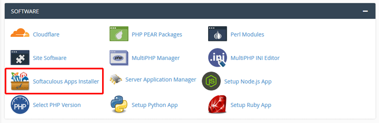 vao softaculous apps installer cua software trong cpanel