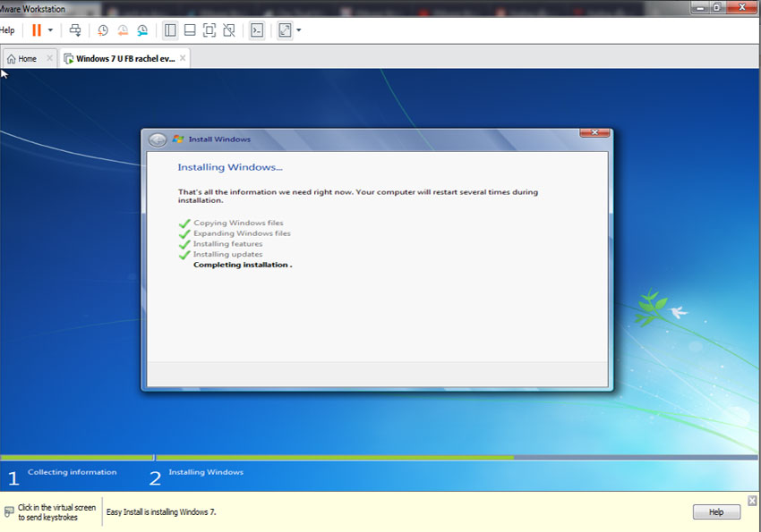 may tinh ao cai dat windows 7 dang chay