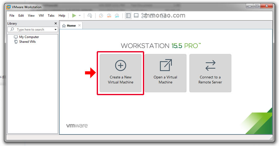 tao may tinh ao tren vmware workstation