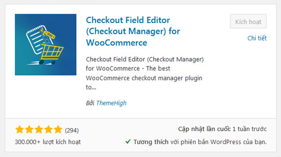 plugin checkout field editor ( Checkout Manager) for WooCommerce